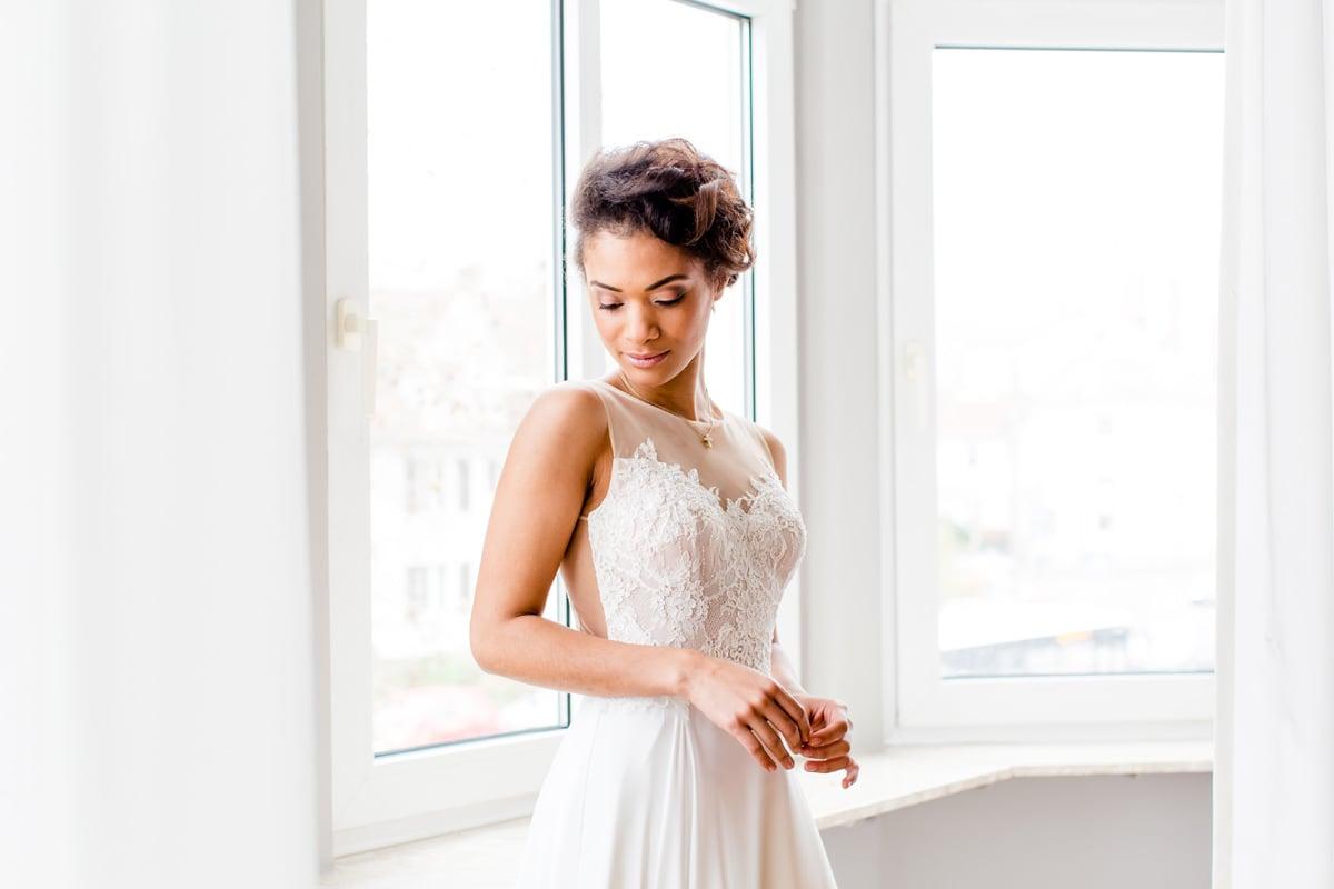 silke brünnet fotografie - Eine Braut im Büro